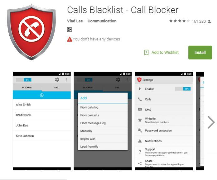 how to block private numbers in android by app