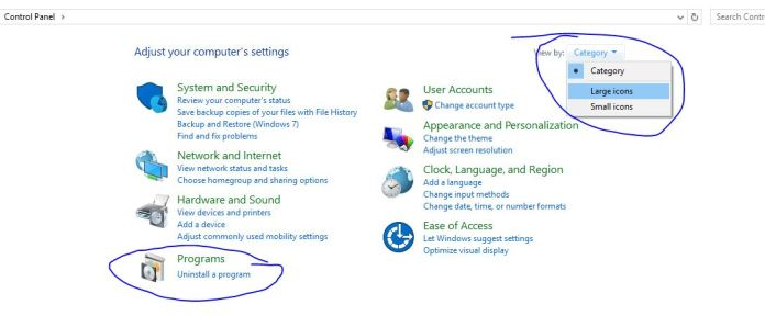 unstall apps from windows 10