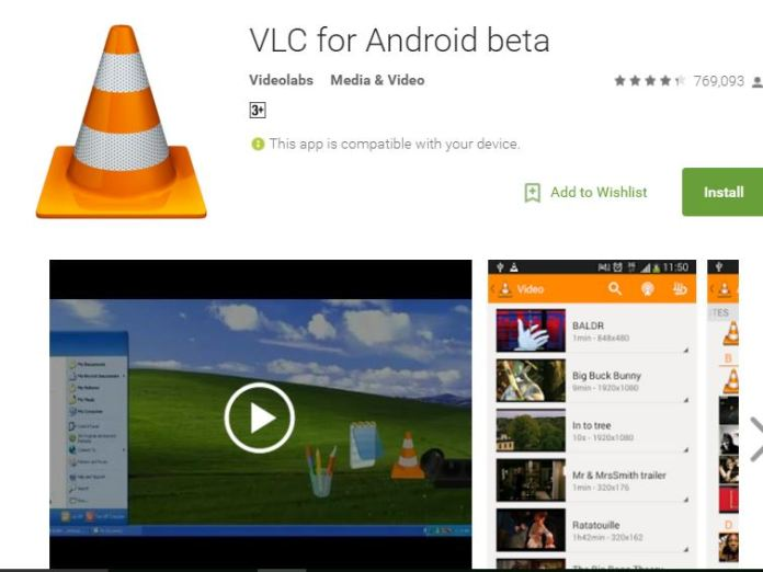 Best Video Player for Android Devices freely available - VLC for Android