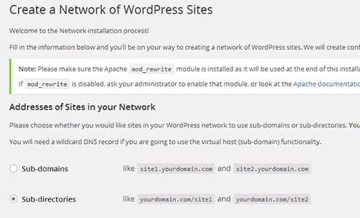 network-setup-multisite-wordpress