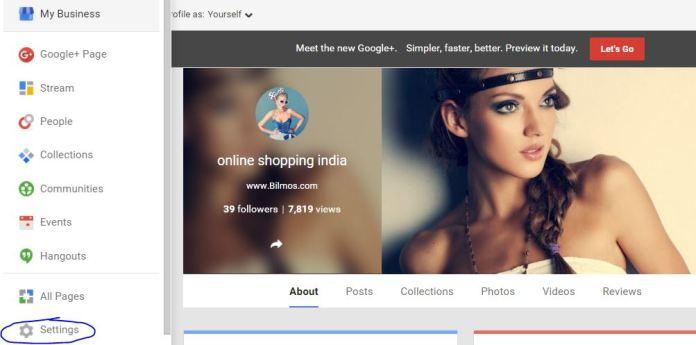 Delete Google Plus Pages