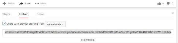 Embed a YouTube Playlist on a Blog or Website