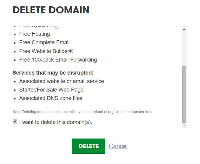 How to Delete Domain from Godaddy Admin Panel