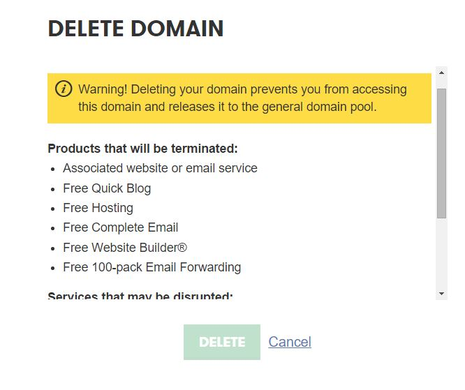 How to Remove Domain From Godaddy Domain Management Panel