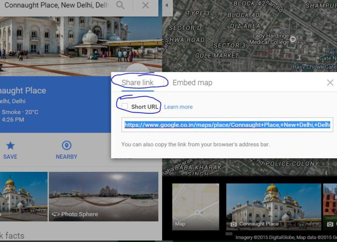 How to Share any location info using link of Google maps