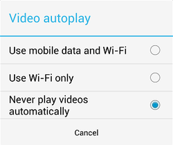 How to Turn off video autoplay on Twitter for Android