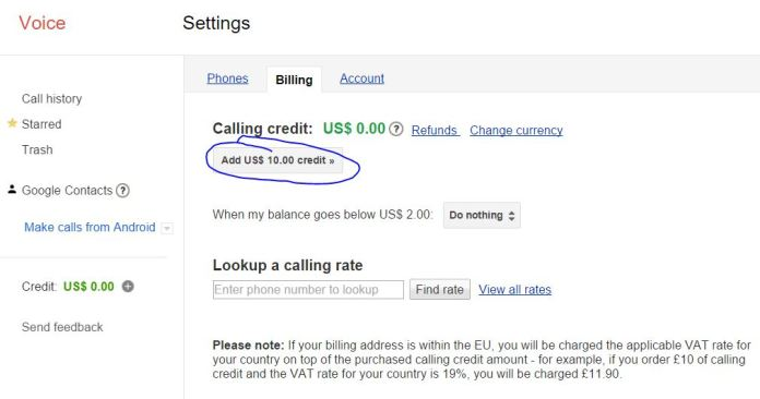 How to Add Money to Your Google Hangout account to Phone call