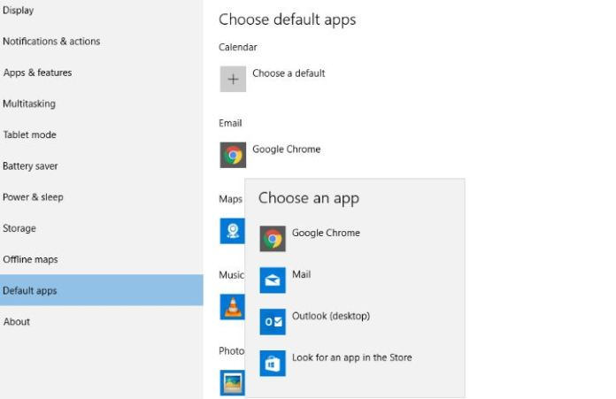 How to Choose and Set Default Apps in Windows 10 PC
