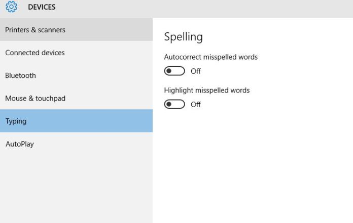Spell Checking - Turn On or Off in Windows 10
