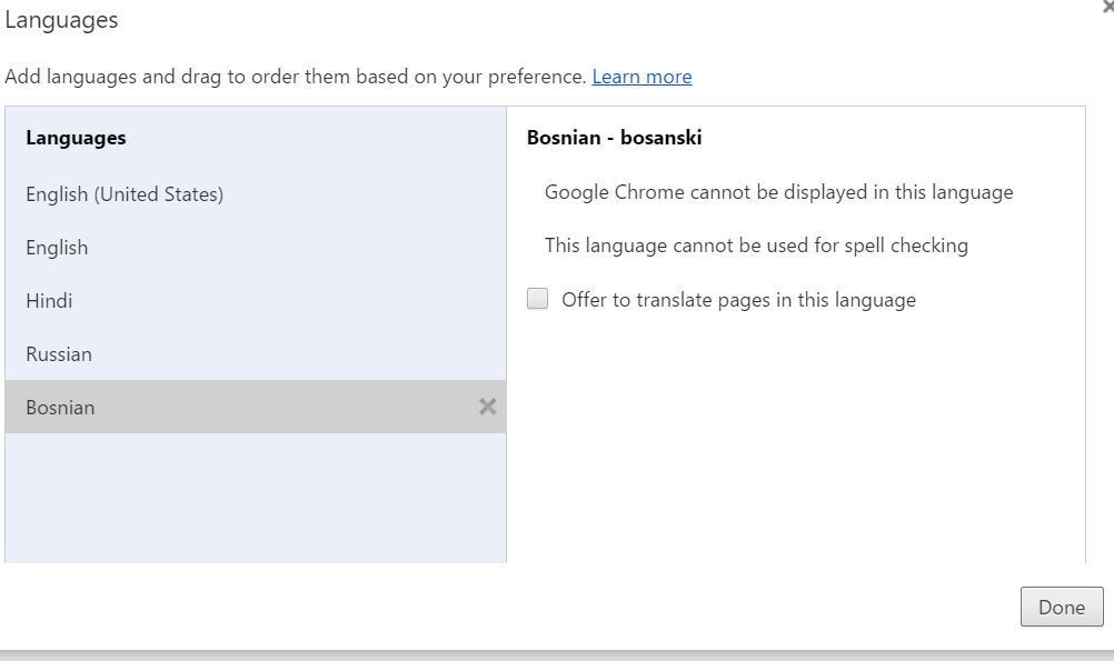 Way to Add New Language and Make It Default with Google Chrome Browser