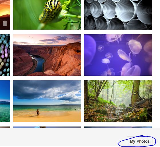 Choose Own Image for Gmail Theme