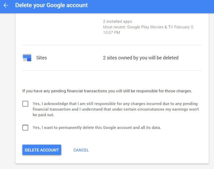 Delete your Gmail address - Accounts Help