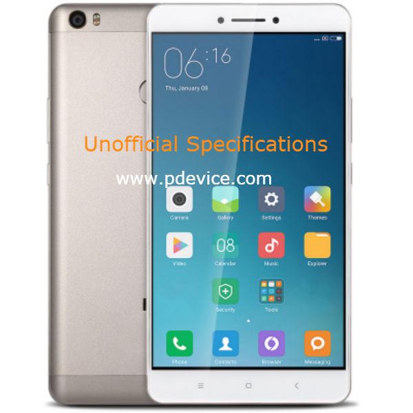Xiaomi Mi Max 2 Smartphone Full Specification
