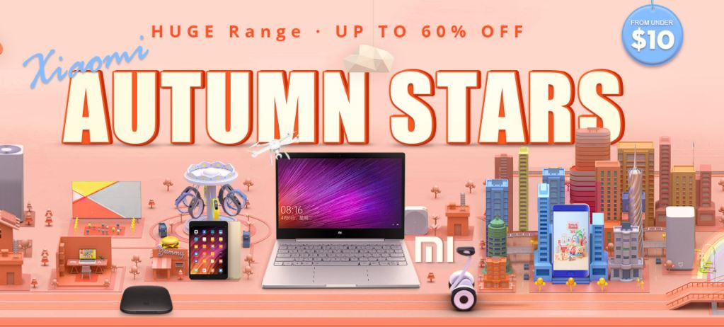 GearBest Offers Online Huge Discounts Up to 60% on All Xiaomi Products