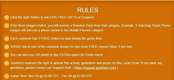 Lucky Draw Rule