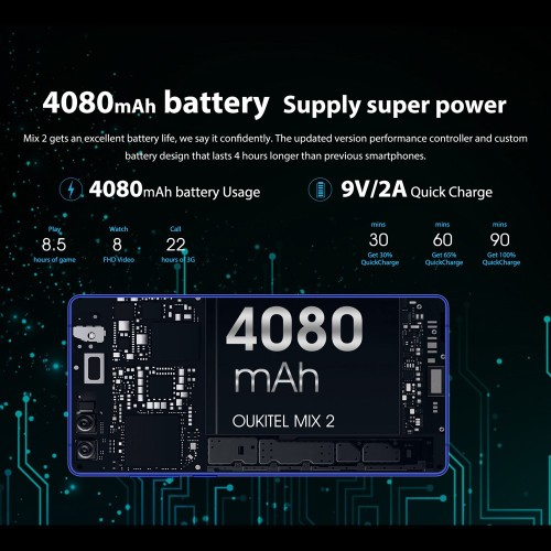 Oukitel Mix 2 Battery Review