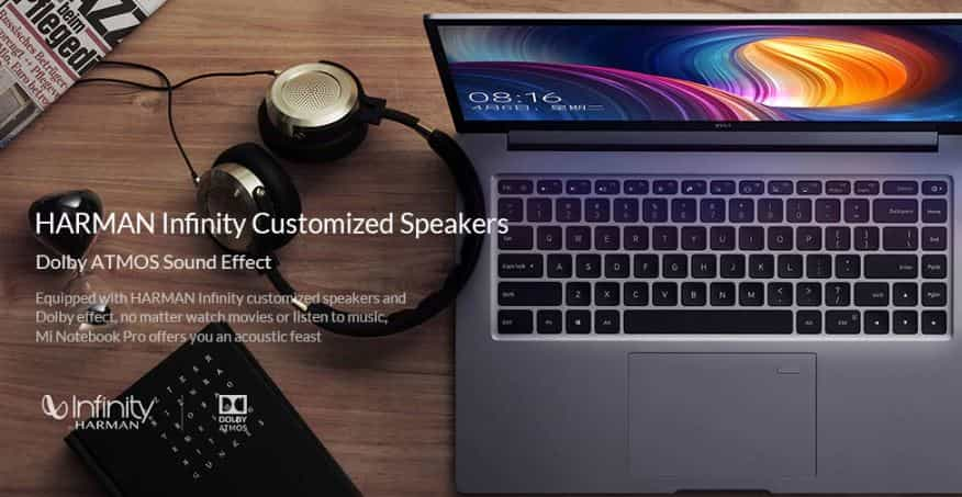 GearBest Coupon For Xiaomi Mi Notebook Pro Fingerprint Recognition - DEEP GRAY CORE I7 16GB + 256GB