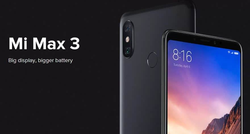 Xiaomi Mi Max 3 $127 GearBest Promo Code with Global Shipping