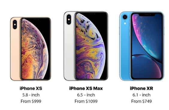 iPhone XS, iPhone XS Max and iPhone XR Online