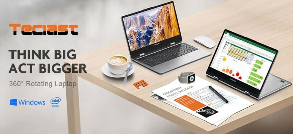 Teclast F5 Laptop 360° Rotating Touch Screen Coupon Code Available for Global Users