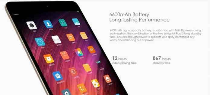 Xiaomi Mi Pad 3 with $20 Coupon Code