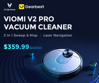 Xiaomi VIOMI V2 Pro vacuum Cleaner Vacuum Cleaner Gearbest Coupon and Deal up to 80%