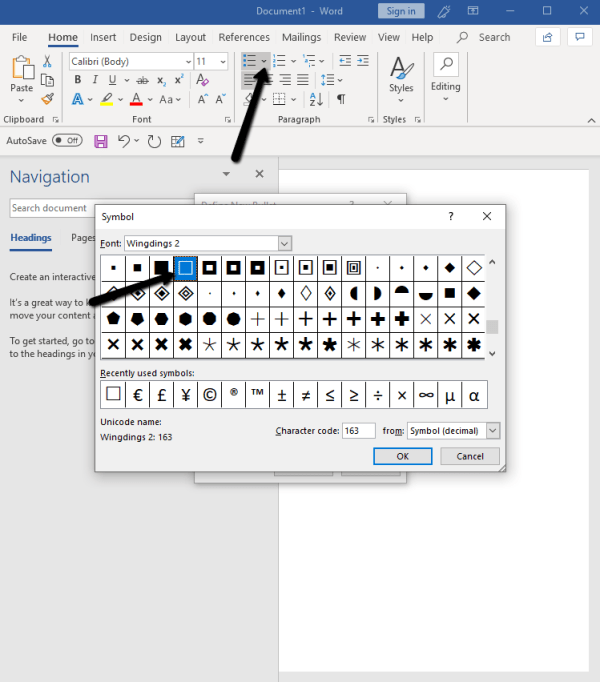 Insert checkbox in Word and Make Fillable Documents