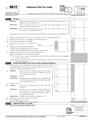Additional Child Tax Credit Worksheet 2013 - earned in e ...
