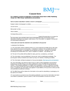 Bmj Consent Form Fill Online Printable Fillable Blank