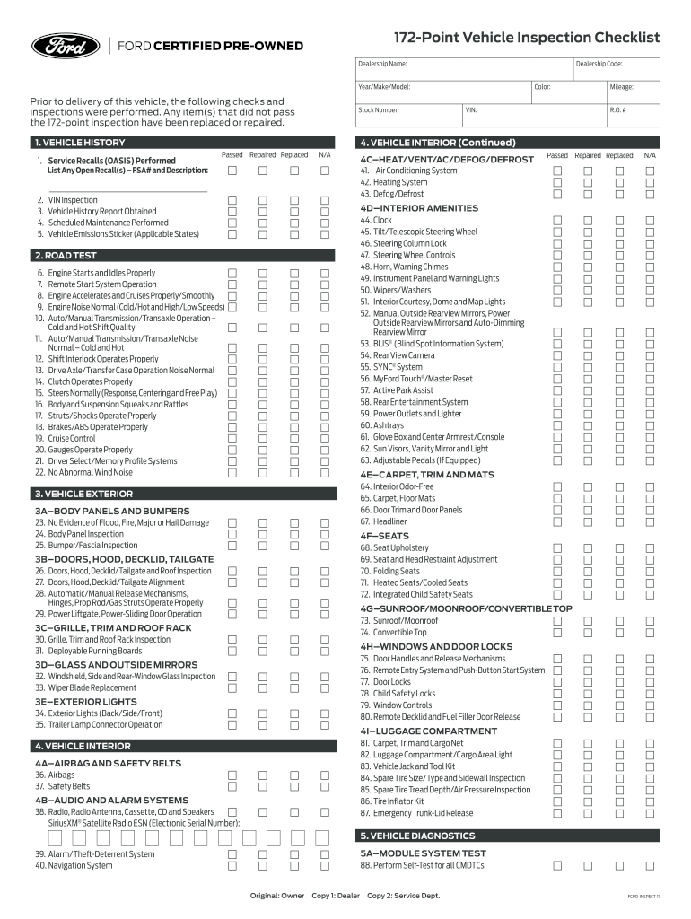 If you're serious about buying the vehicle, there's no reason why you shouldn't spend $100 to get it inspected by a professional mechanic. Used Car Inspection Checklist Form Pdf 2020 2021 Fill And Sign Printable Template Online Us Legal Forms