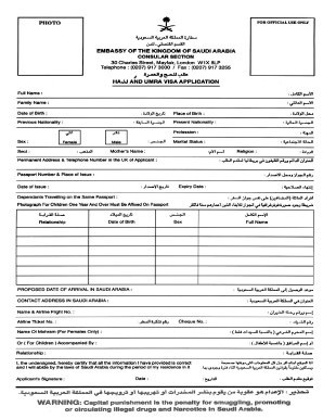 Fillable Online Saudi Visa Form Doc Fax Email Print