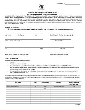 Printable Independent Verification Worksheet