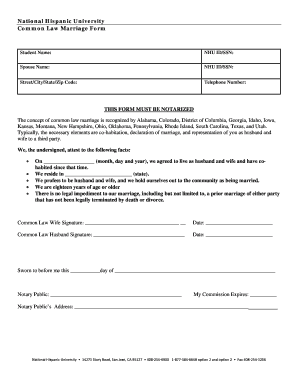 Notarized Letter Common Law Marriage