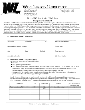 Copy Of Liberty University Independent Verification