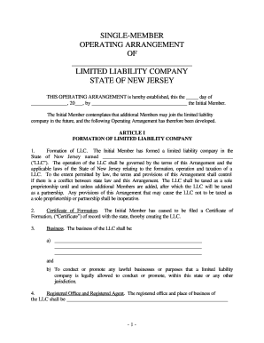 Limited liability companies (llcs) have been available to business owners since the early 1980s, and they are an al. 22 Printable Single Member Llc Operating Agreement Forms And Templates Fillable Samples In Pdf Word To Download Pdffiller