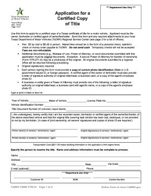 Texas Dept Of Motor Vehicles Form Vtr 346 | caferacer.1firts.com