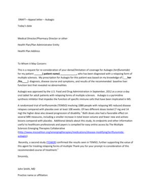 19 Printable Sample Letter Of Appeal