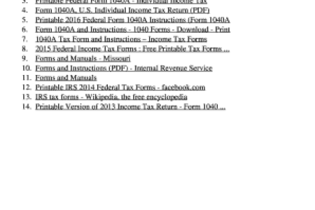 Free Fillable Form 2018 Irs Tax Form A Free Fillable Form