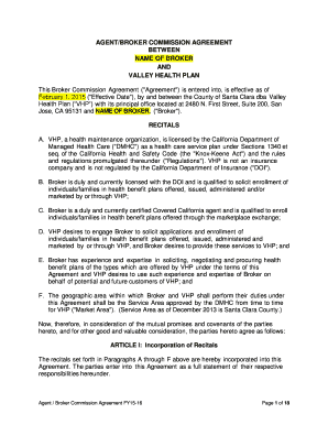 This agreement makes few assumptions about the arrangements giving rise to the commission payment obligation. 19 Printable Agents Commission Agreement Forms And Templates Fillable Samples In Pdf Word To Download Pdffiller