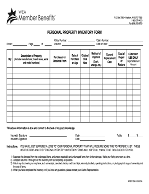 Inventory retains its original value as long as you can make. Personal Asset Inventory Template Fill Online Printable Fillable Blank Pdffiller