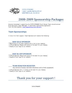 24 Printable Sample Sponsorship Letter