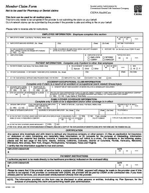 Cigna Medical Claim Form Templates - Fillable & Printable ...