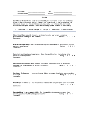 The content is for informational purposes only, you should not construe any such information or other … Fillable Online Applicant Evaluation Form Sample 2 WordPress Com Fax Email Print Pdffiller