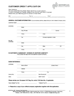 The things have a face or standard esteem and have turned out to be more elusive. 125 Printable Business Credit Application Forms And Templates Fillable Samples In Pdf Word To Download Pdffiller