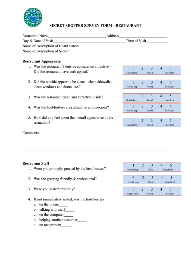 Mystery Shopping Report Sample Pdf - Fill Online, Printable