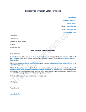 20 printable sample invitation letter for visa forms and templates fillable samples in pdf word to download pdffiller