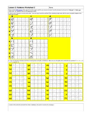 Katakana Stroke Order Chart To Download