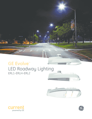 fillable online led roadway lighting fax email print pdffiller