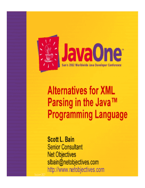 Fillable Online Alternatives for XML Parsing in the Java ...