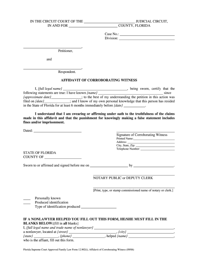 Affidavit Of Witness Sample - Fill Online, Printable, Fillable